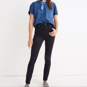 "MADEWELL 10"" High Rise Skinny Black Jeans 25"